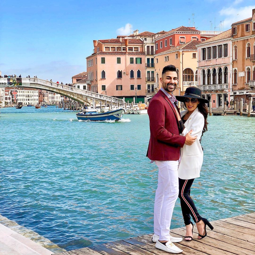 Dhar Mann Instagram photo in Venice Italy with Laura G