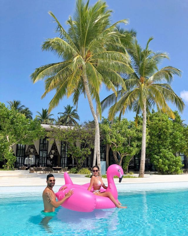 Dhar Mann and Laura G in the Maldives
