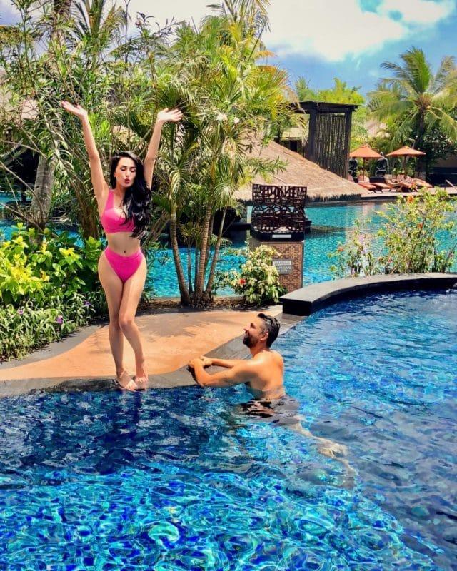 Dhar Mann and girlfriend Laura G celebrating Lauras birthday in Bali