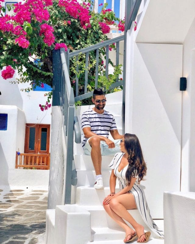 Dhar Mann and girlfriend Laura G hanging out in Mykonos, Greece